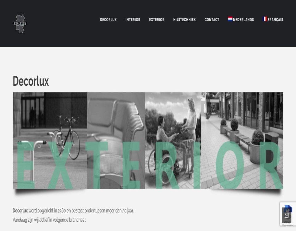 decorlux.be gemaakt door 'ik wil een site .be'