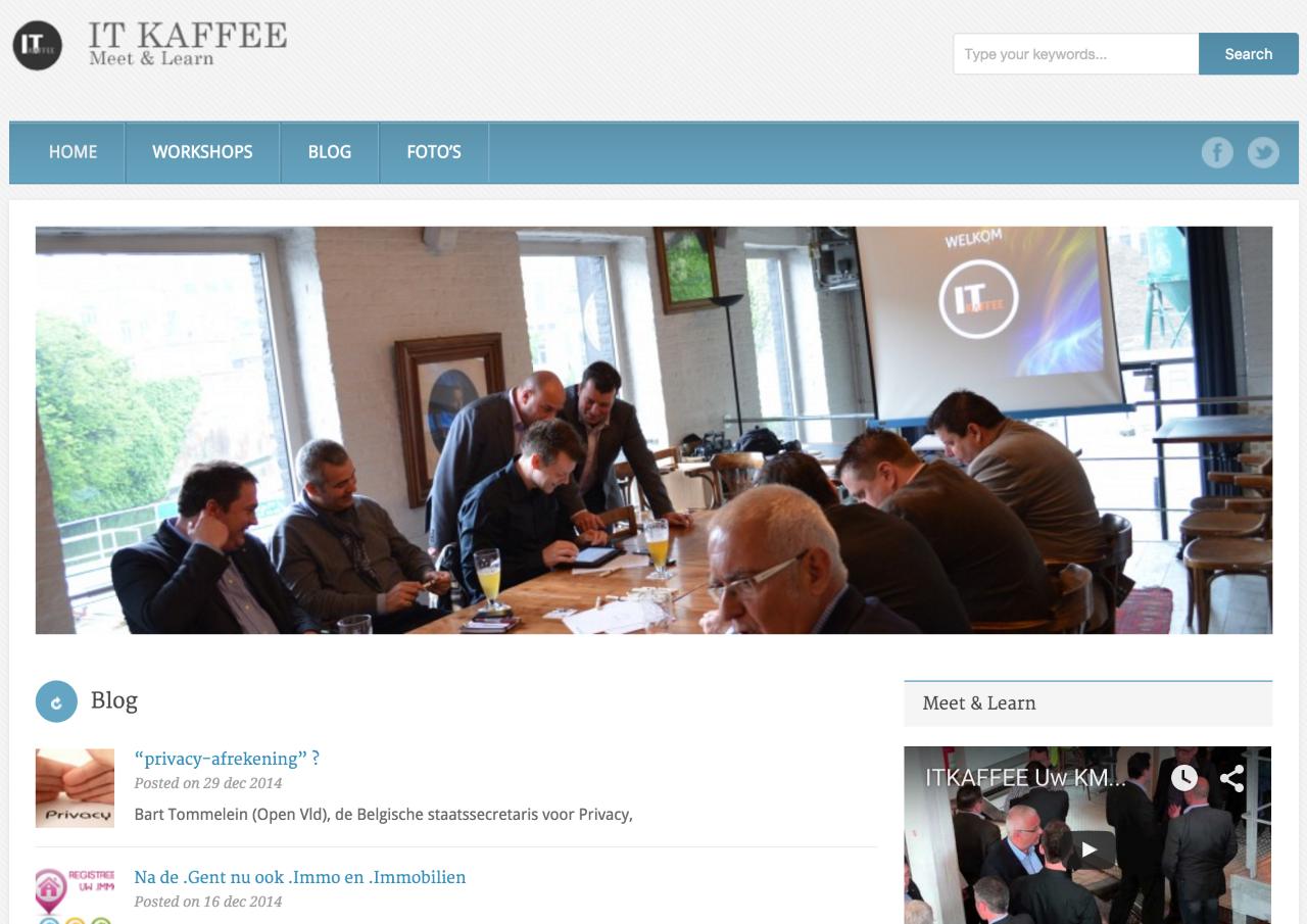 it-kaffee concept website e-marketing door Philippe Meirlaen