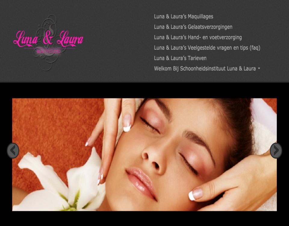 Luna en Laura gemaakt door 'ik wil een site .be'