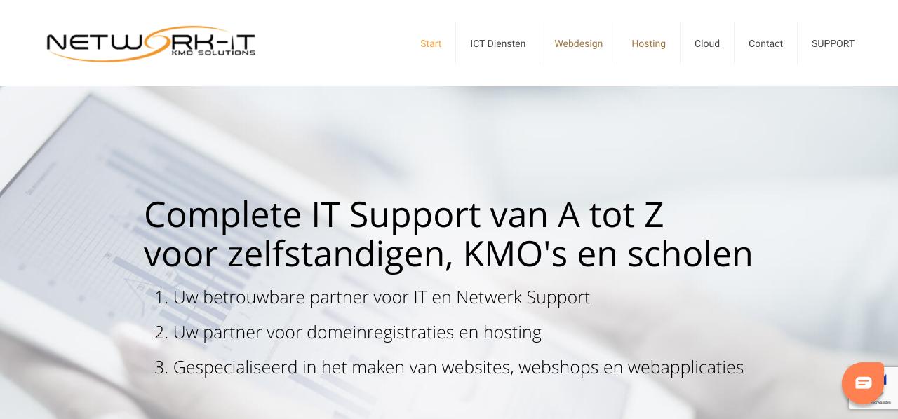 network-it gemaakt door 'ik wil een site .be'