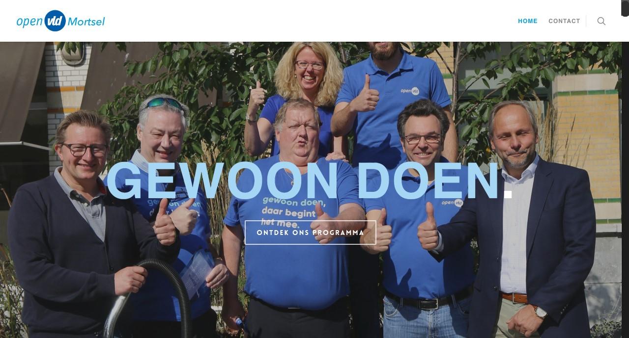 open vld Mortsel website gemaakt door ikwileensite.be