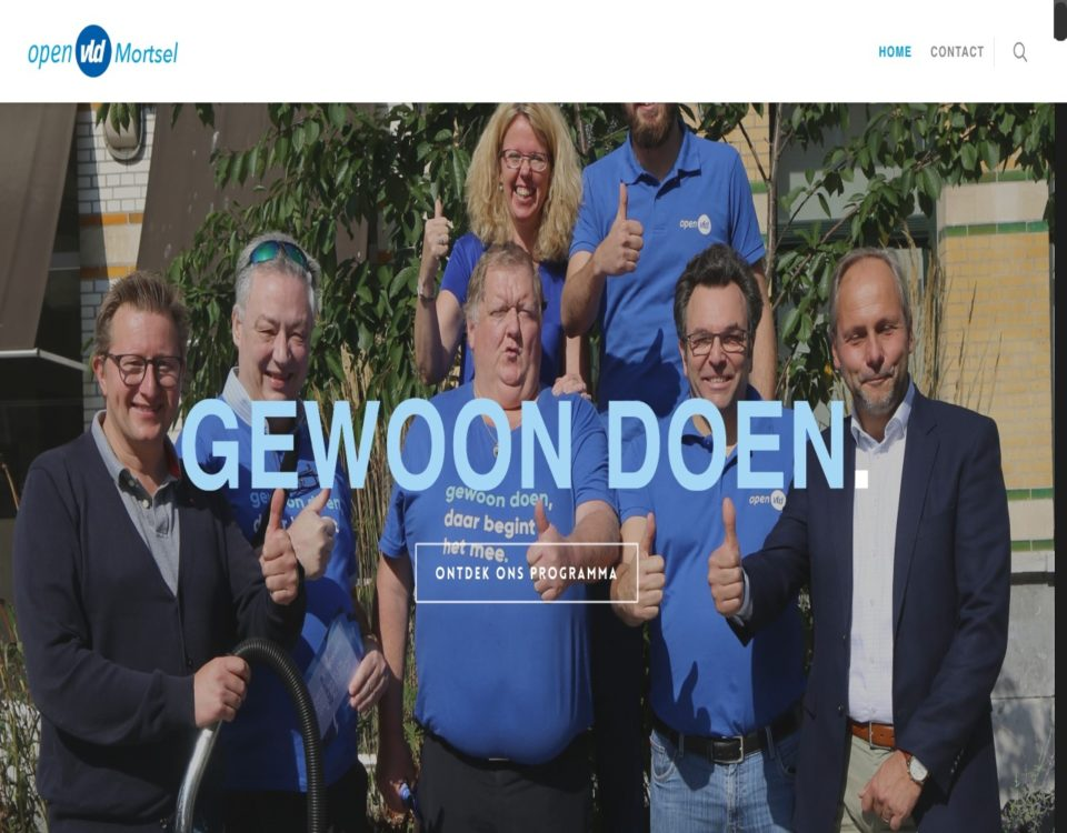 open vld Mortsel website gemaakt door ikwileensite.be