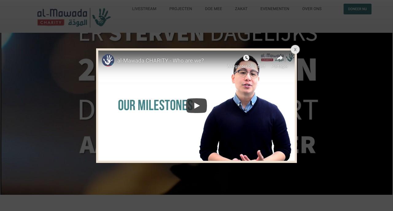 Almawada Charity gemaakt door 'ik wil een site .be'