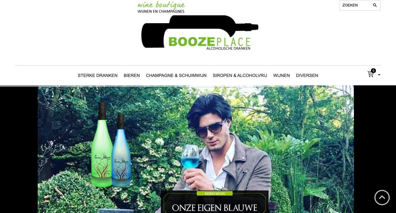 """Booze Place webshop door """" ik wil een site """""""