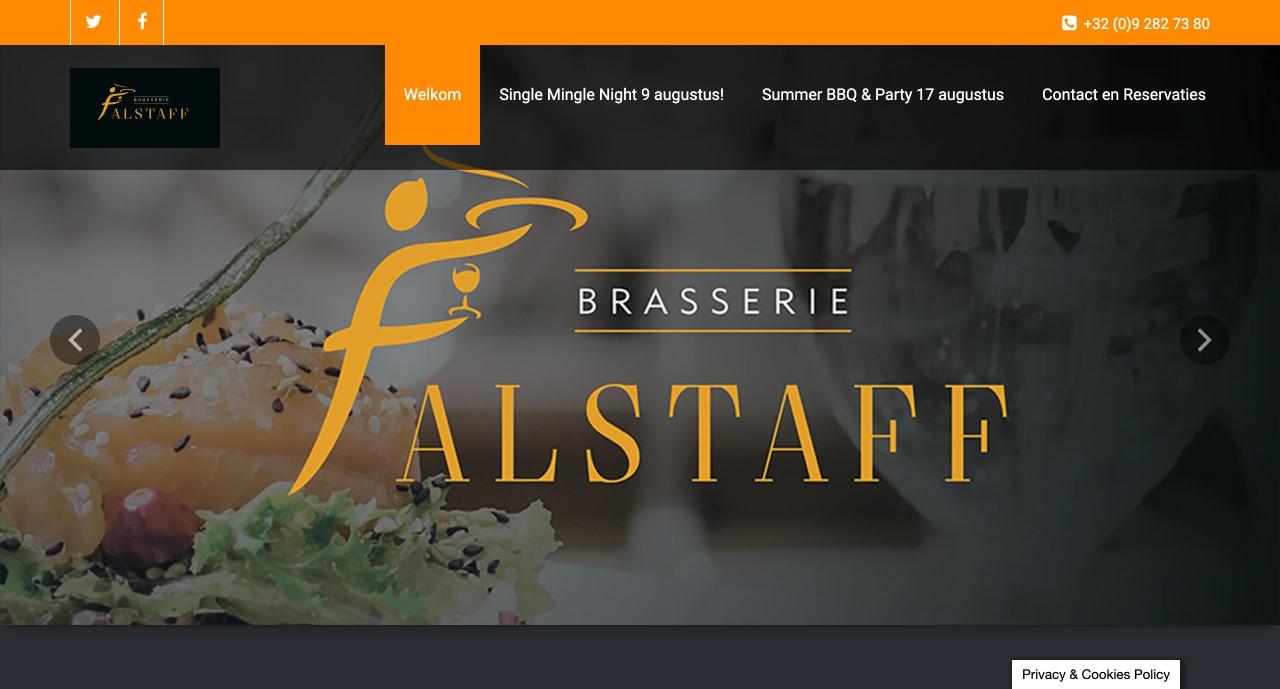 """Falstaff Gentbrugge beheerd door """" ik wil een site """""""