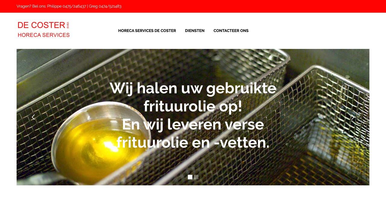"""Horeca Services De Coster door """" ik wil een site """""""