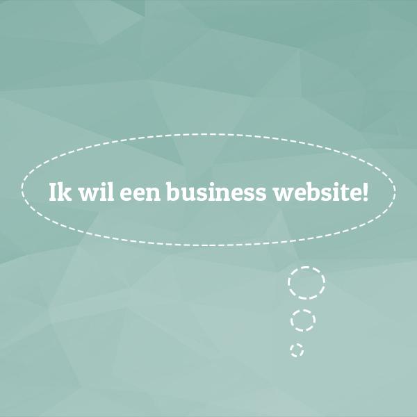 ik wil een business website