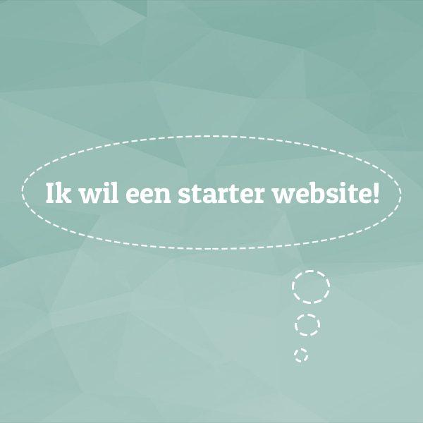 ik wil een starter website