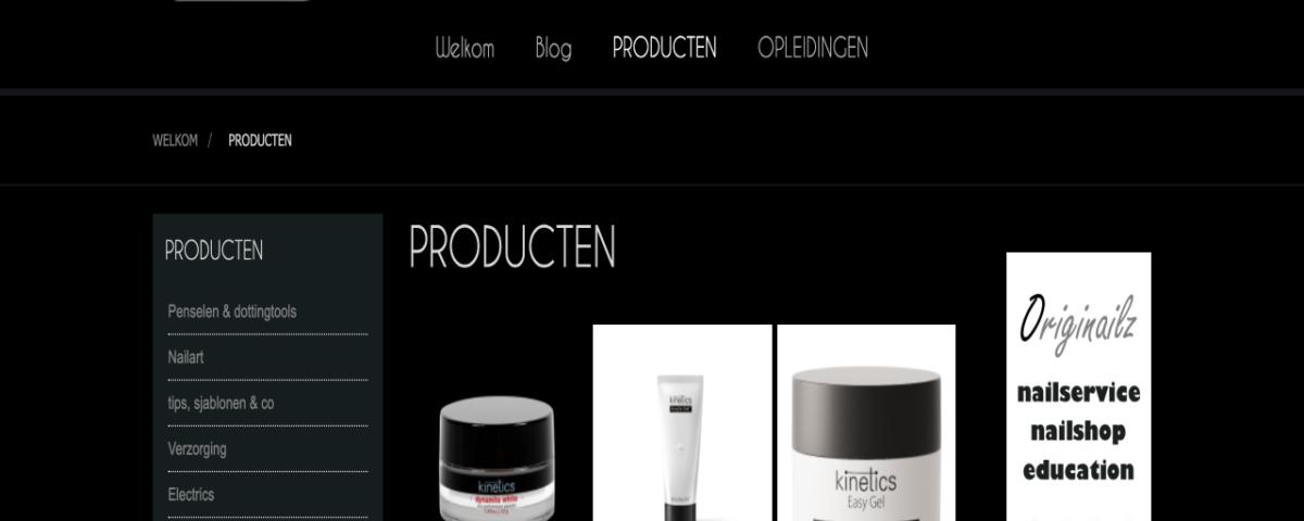 Originailz webshop website