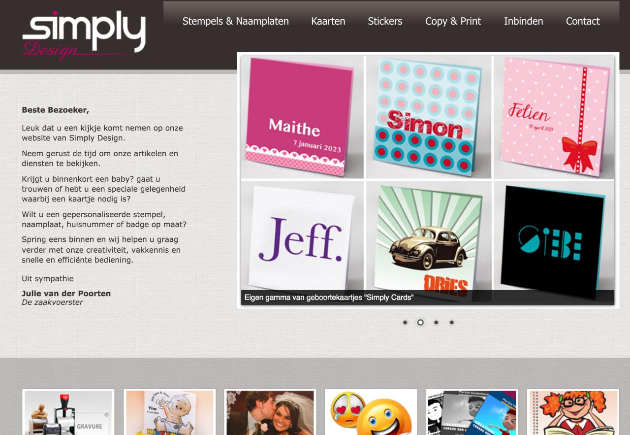Simply Design website