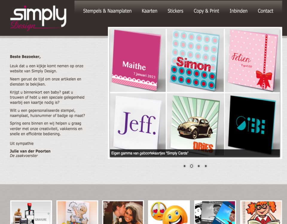 Simply Design website