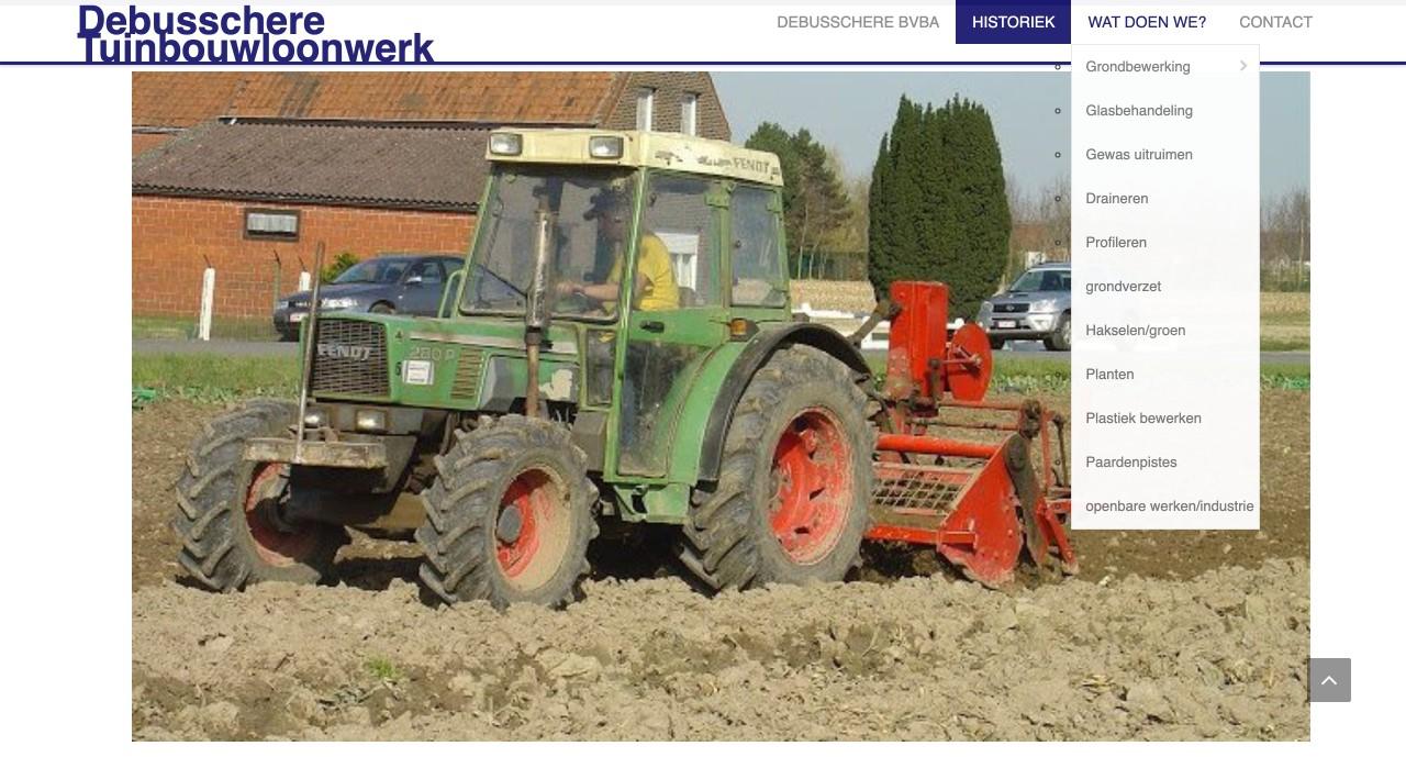 tuinbouw loonwerk debusschere website