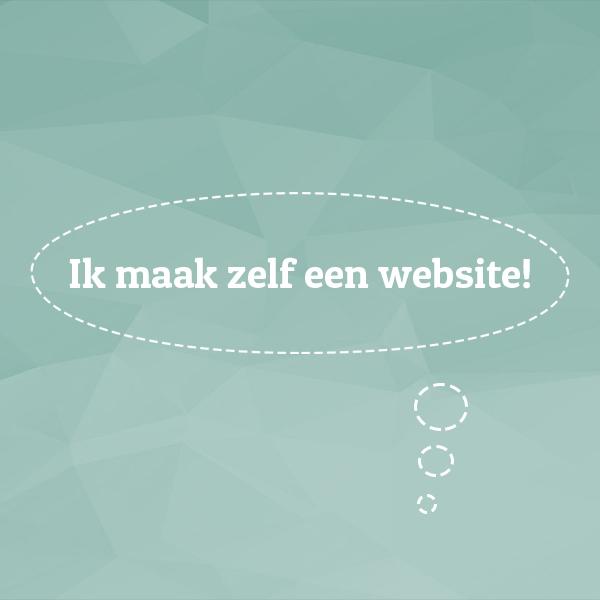 ik maak zelf een website