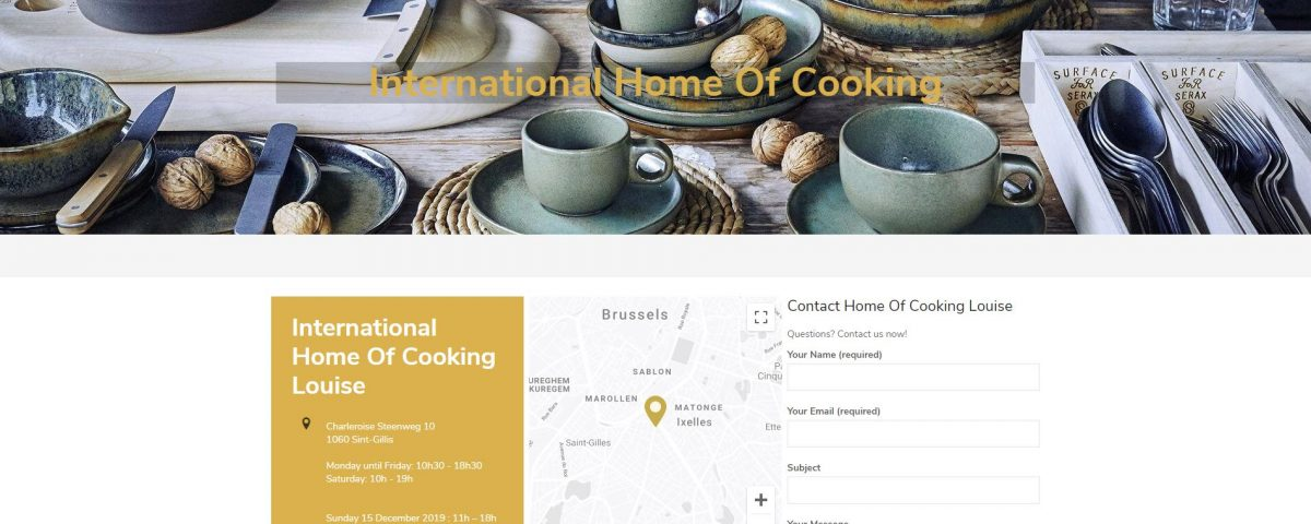 International Home Of Cooking website