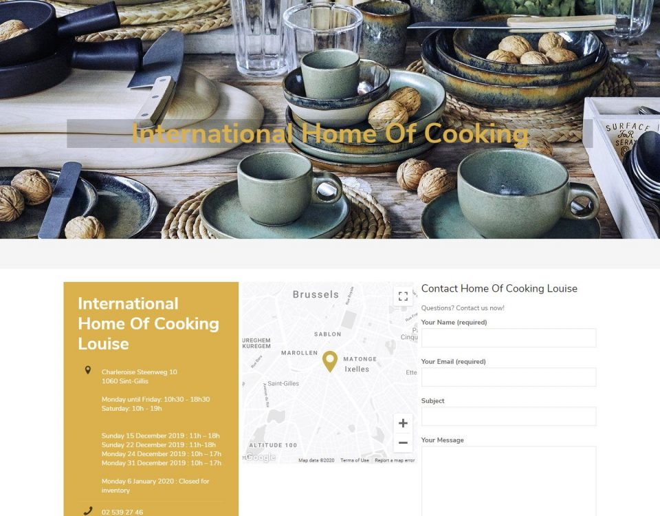 International Home Of Cooking website