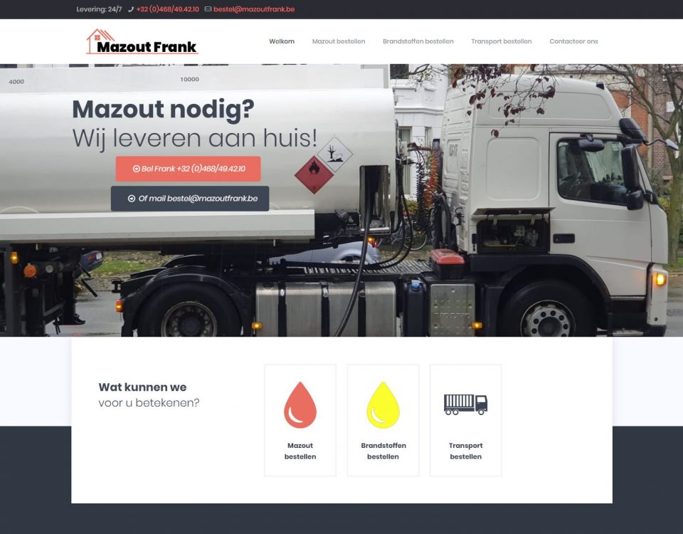 Mazout Frank website