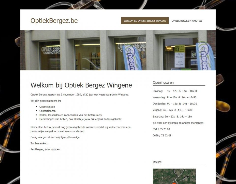 Optiek Bergez website