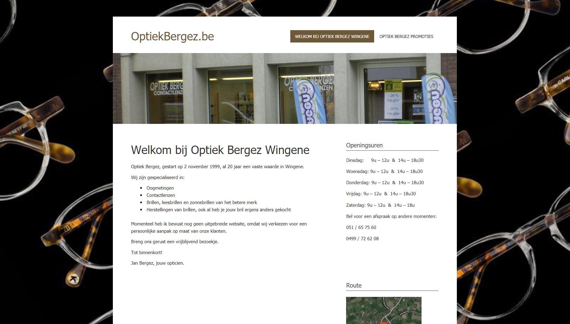 Optiek Bergez website