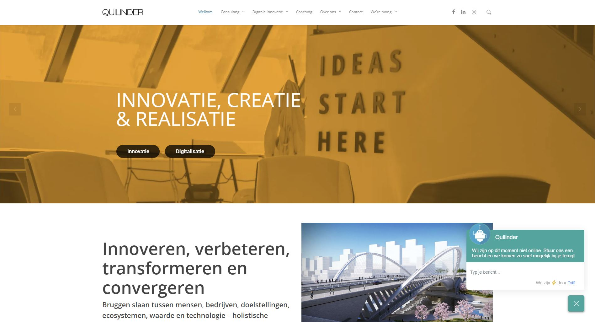 Quilinder website